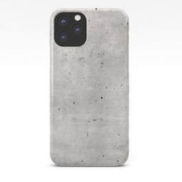 Smooth Concrete Small Rock Holes Light Brush Pattern Gray Textured Pattern iPhone Case