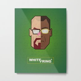 Breaking Bad White/Fring Metal Print