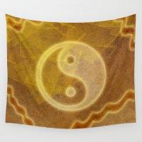 yin yang Wall Tapestries featuring Yin & Yang by Melanie Viola