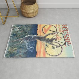Vintage French Bicycle Poster 1898 Rug