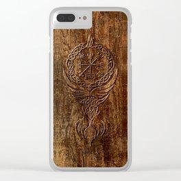 Vegvisir Old Norse Rune Viking mythology Clear iPhone Case