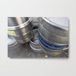 Kegs Metal Print