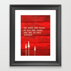 Hopes and Fears Framed Art Print
