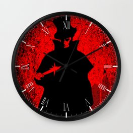 Jack the Ripper Blood Background Wall Clock