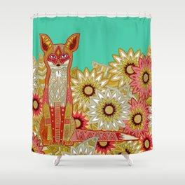 garden fox Shower Curtain
