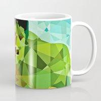 superhero Mugs featuring Geometric Superhero by Eric Dufresne