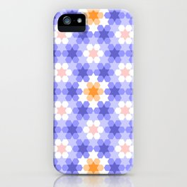 Stars and hexagons iPhone Case