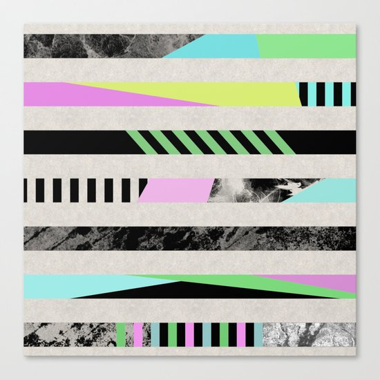 Crazy Lines - Pop Art, Geometric, Abstract Style Canvas Print