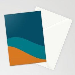 Moderna Bold Wave - Minimalism in Blue, Teal, and Orange Stationery Cards