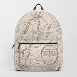 Vintage British Map of Lake George Area Backpack