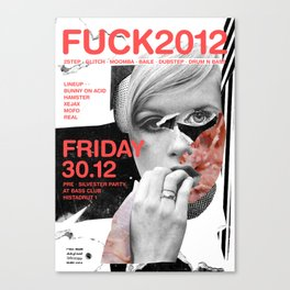 FUCK2012 ANALOG zine Canvas Print