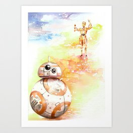 BB8 & C3PO Art Print