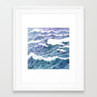 kozyndan Framed Art Prints featuring From Leaf to Feather by kozyndan