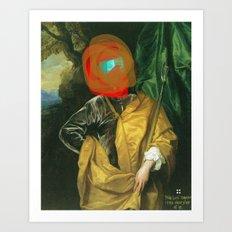 Masked Man Art Print