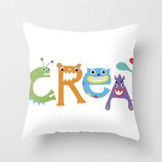 I Create Critters Throw Pillow