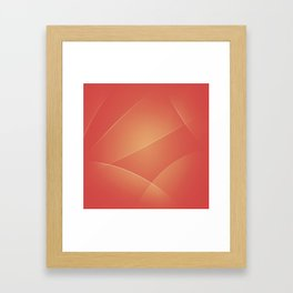 Red Damask, Valencia, Japonica & Di Serria Colors Framed Art Print