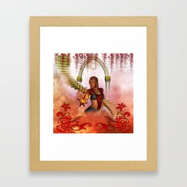 The women of fire Framed Art Print