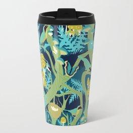 North American Forest Pattern (Greens) Travel Mug