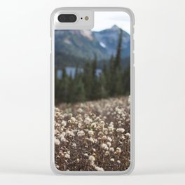Autumn Meadow Clear iPhone Case