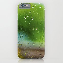 Rain Drops on Glass Abstract iPhone Case