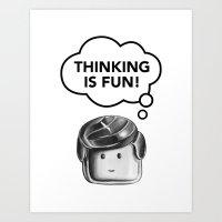 Thinking is Fun Art Print