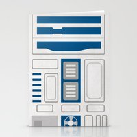 r2d2 Stationery Cards featuring R2D2 by Alison Lee