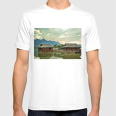 Water Huts Mens Fitted Tee MEDIUM White