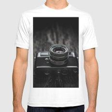 Vintage Camera Mens Fitted Tee White MEDIUM