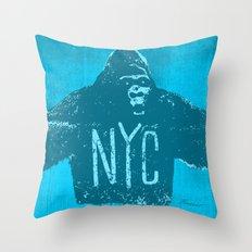 Gorilla NYC Throw Pillow