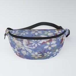 Autumn Petals on Dusty Blue Fanny Pack