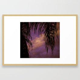 Palms and Skies [purple] Framed Art Print