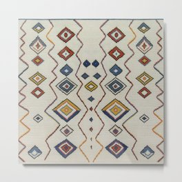 Traditional Moroccan Berber Rug Style A2 Metal Print