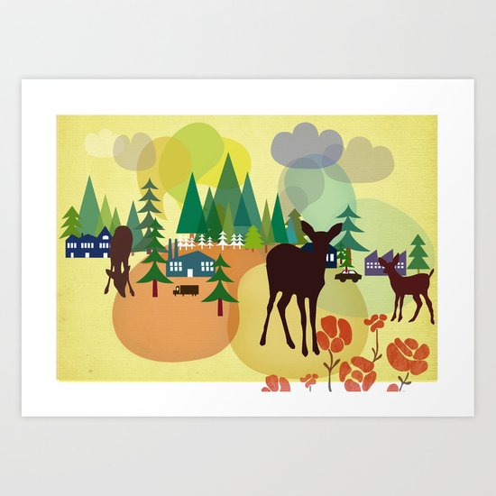 welcome to the woodland Art Print