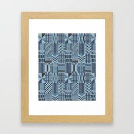 New Kente denim Framed Art Print