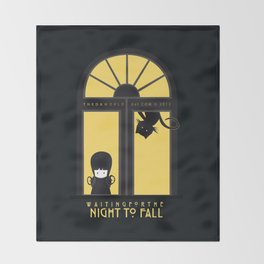 Waiting for the night to fall Throw Blanket