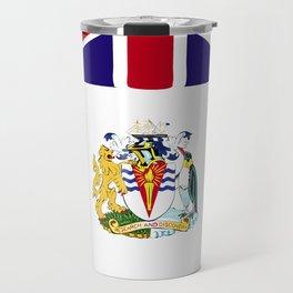 British Antarctic Territory flag emblem Travel Mug