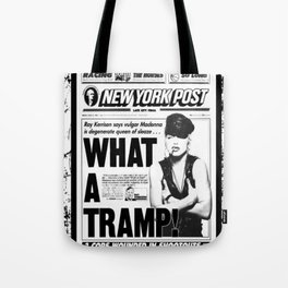Madonna -What A Tramp - New York Post Tote Bag