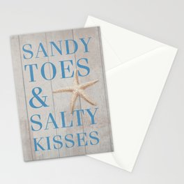 Sandy Toes and Salty Kisses Stationery Cards