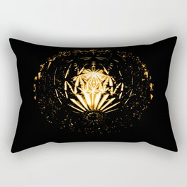 Lamp in the dark Rectangular Pillow