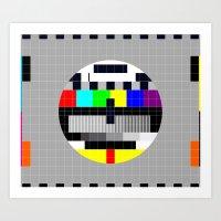 Test Pattern Art Print