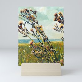 Thistles on the Beach Mini Art Print