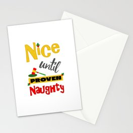 Nice Until Proven Naughty Christmas Stationery Cards