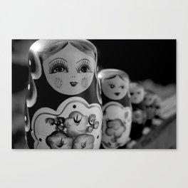 Wooden Dolls. Canvas Print