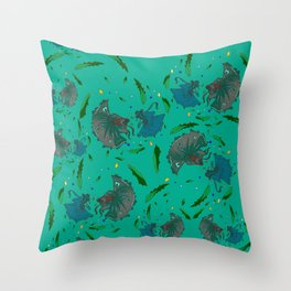 Angry Little Fish Pattern Throw Pillow