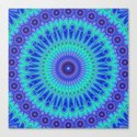 Blue mandala by davidzydd