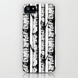 Birch Pattern Large iPhone Case