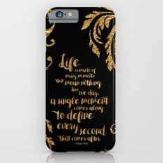 An Ember In The Ashes Quote Design in Gold Foil iPhone 6 Slim Case
