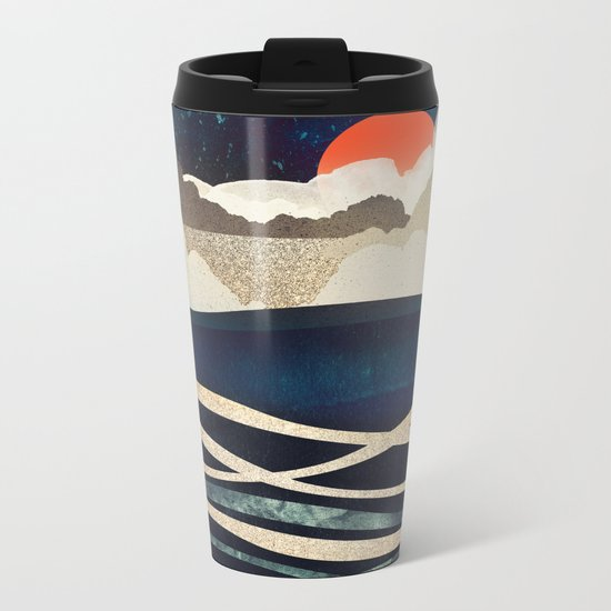 Midnight Beach Metal Travel Mug
