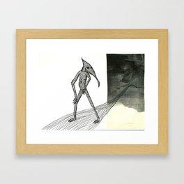 Walking Backward Framed Art Print
