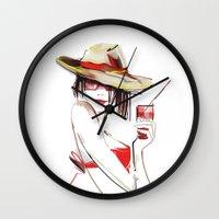 cocktail Wall Clocks featuring cocktail by tatiana-teni
